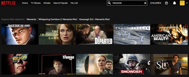 Watch Memento (2000) on Netflix 1