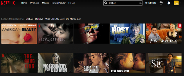Watch Oldboy (2003) on Netflix 1