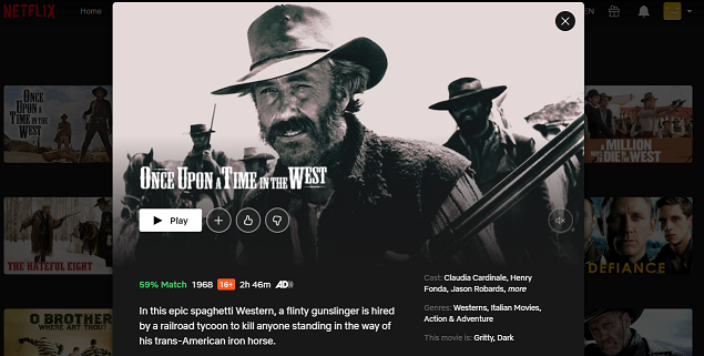 Watch Once Upon a Time in the West (1968) on Netflix 3