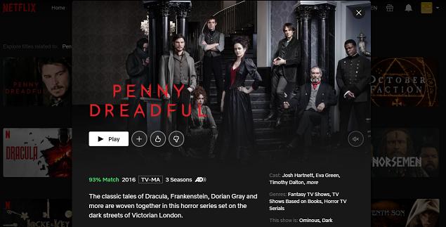 Watch Penny Dreadful all 3 Seasons on Netflix 3