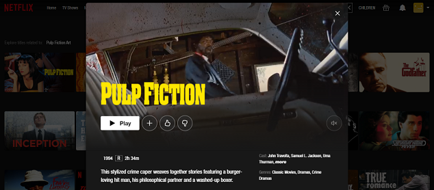 Watch Pulp Fiction (1994) on Netflix 3