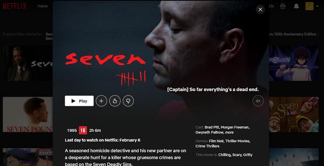 Watch Seven (1995) on Netflix 3