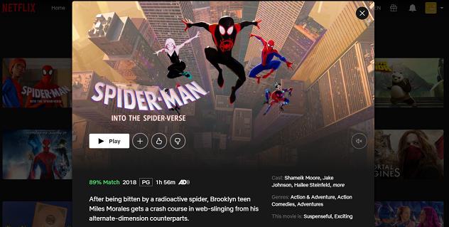 Watch Spider-Man - Into the Spider-Verse (2018) on Netflix 3