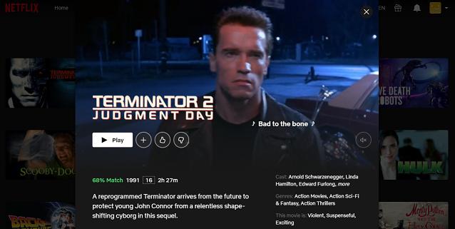 Watch Terminator 2- Judgment Day (1991) on Netflix 3