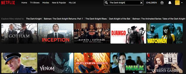 Watch The Dark Knight (2008) on Netflix 1