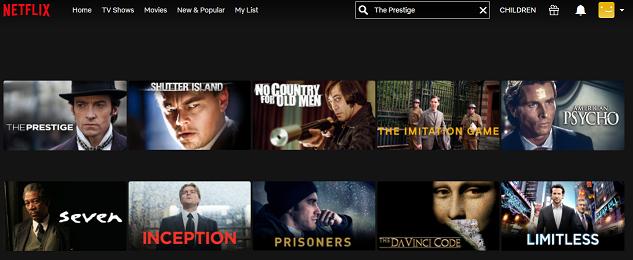 Watch The Prestige (2006) on Netflix 2