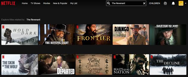 Watch The Revenant (2015) on Netflix 1