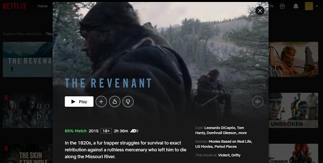 Watch The Revenant (2015) on Netflix 3