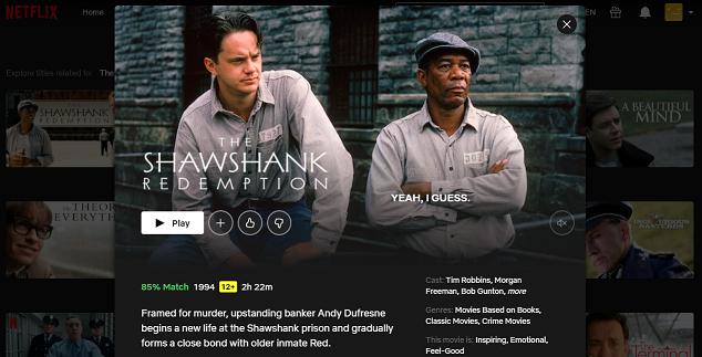 Watch The Shawshank Redemption (1994) on Netflix 3