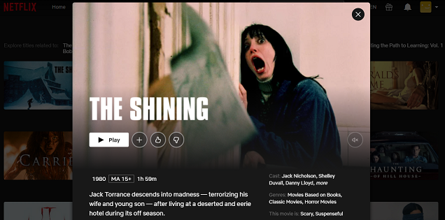 Watch The Shining (1980) on Netflix 3
