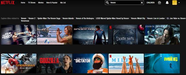 Watch Venom (2018) on Netflix 1