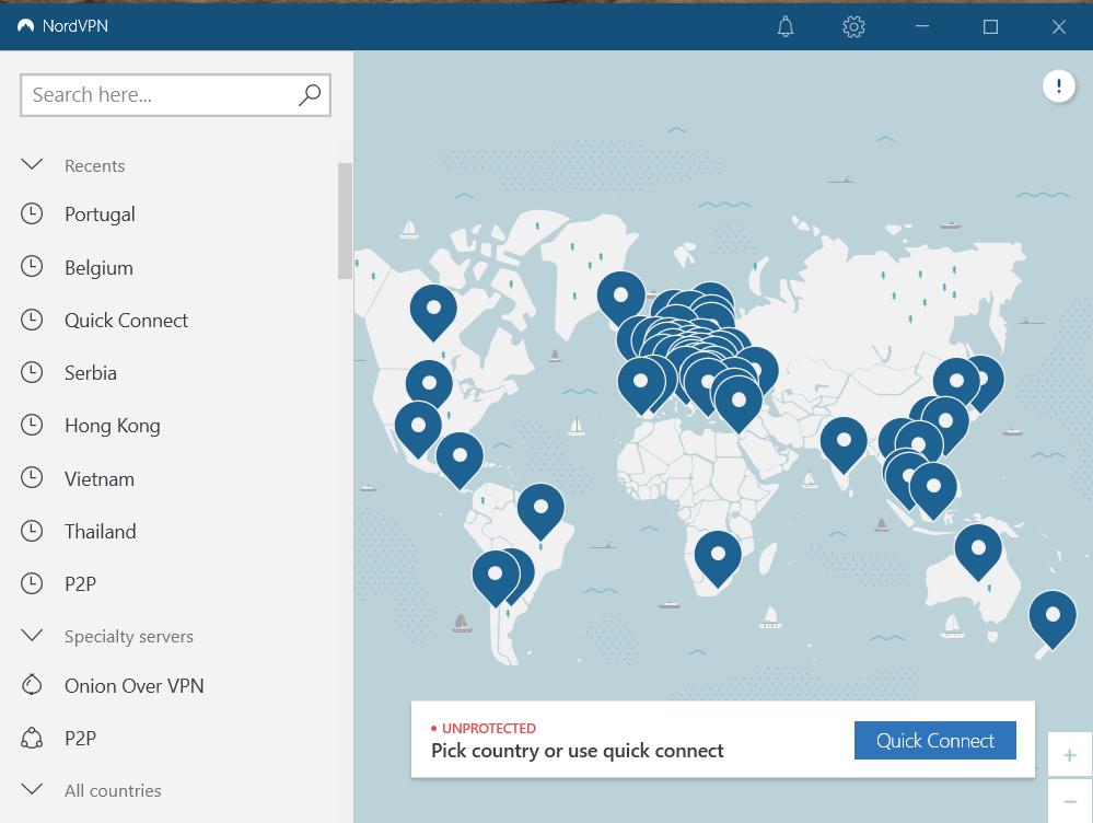 Servers in NordVPN