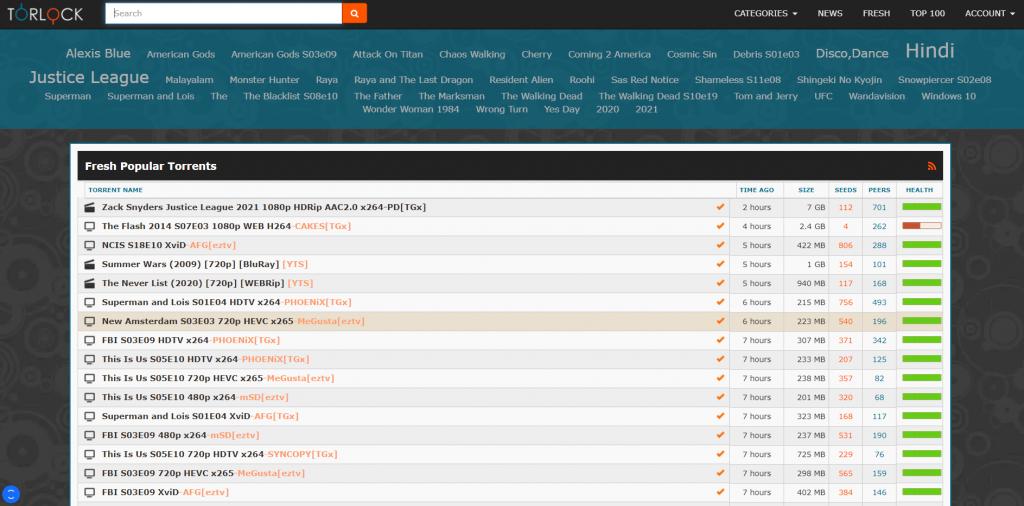 TorLock torrent site for Anime