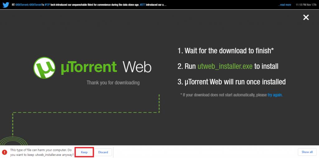 Downloading uTorrent
