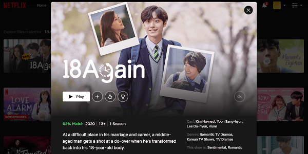 Watch 18 Again - Season 1 on Netflix 3