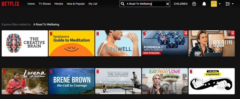 Watch A Road To Wellbeing (2020) on Netflix 1