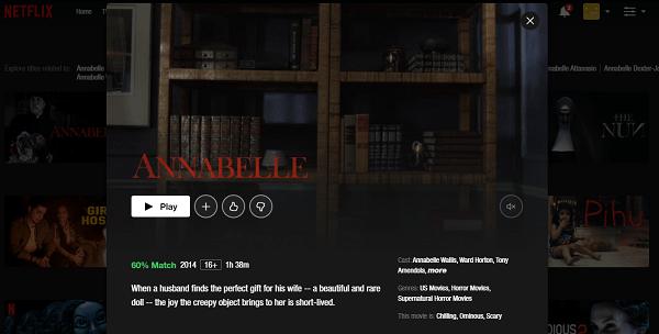 Watch Annabelle (2014) on Netflix 3
