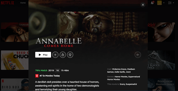 Watch Annabelle Comes Home (2019) on Netflix 3