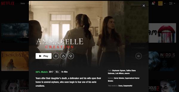 Watch Annabelle - Creation (2017) on Netflix 3