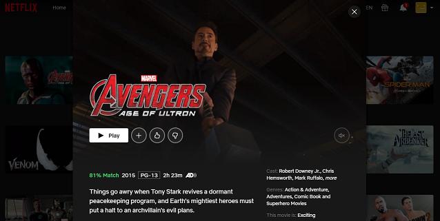 Watch Avengers - Age of Ultron (2015) on Netflix 3