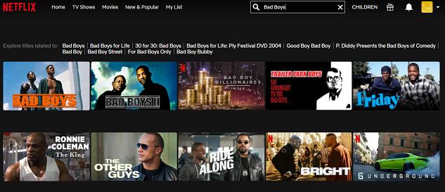 Watch Bad Boys (1995) on Netflix 2