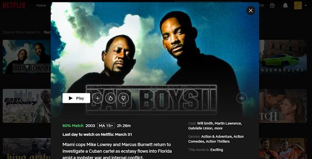 Watch Bad Boys II (2003) on Netflix 3