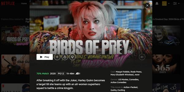 Assista Aves de Rapina (2020) na Netflix 3