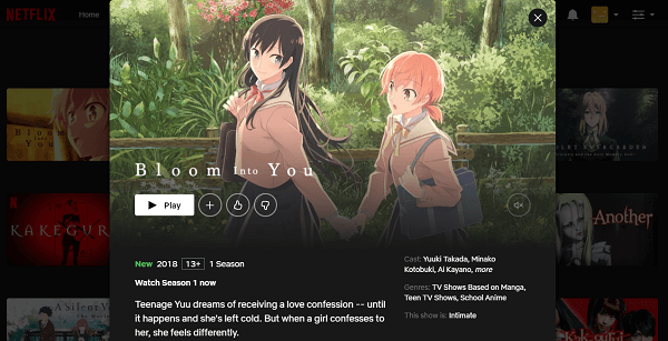 Watch Bloom Into You on Netflix 3