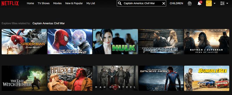 Watch Captain America - Civil War (2016) on Netflix 1