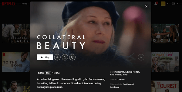 Watch Collateral Beauty (2016) on Netflix 3