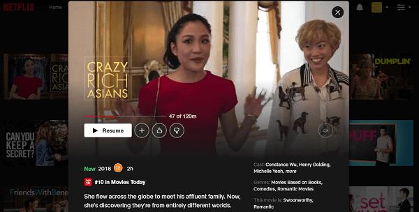 Watch Crazy Rich Asians (2018) on Netflix 3