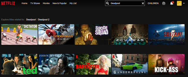 Watch Deadpool (2016) on Netflix 1