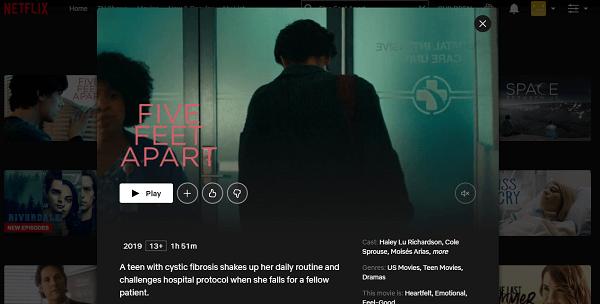 Watch Five Feet Apart (2019) on Netflix 3