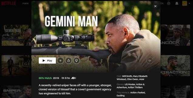 Watch Gemini Man (2019) on Netflix 3