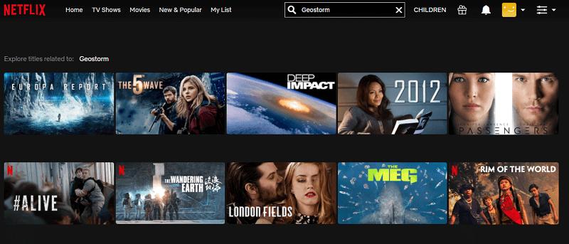 Watch Geostorm (2017) on Netflix 1