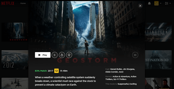 Watch Geostorm (2017) on Netflix 3