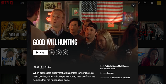 Watch Good Will Hunting (1997) on Netflix 3