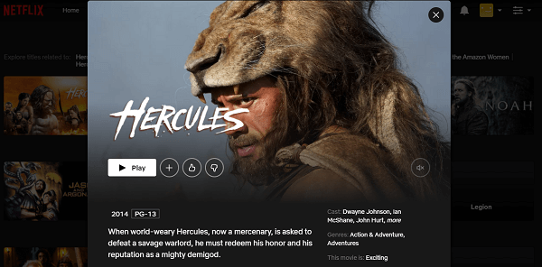 Watch Hercules (2014) on Netflix 3