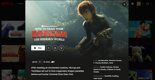 Watch How to Train Your Dragon - The Hidden World (2019) on Netflix 3