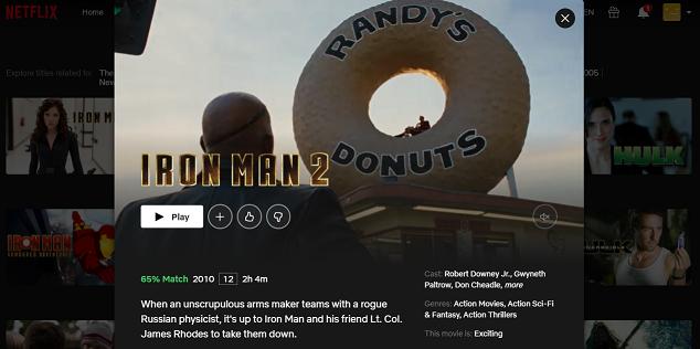 Watch Iron Man 2 (2010) on Netflix 3