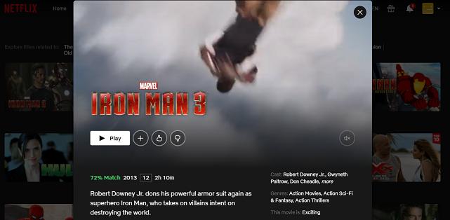 Watch Iron Man 3 (2013) on Netflix 3