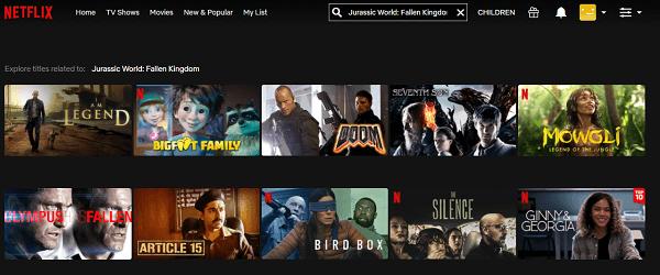 Watch Jurassic World - Fallen Kingdom (2018) on Netflix 1