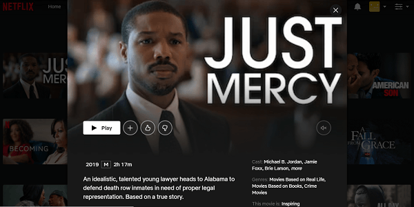 Watch Just Mercy (2019) on Netflix 3