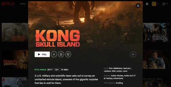 Watch Kong - Skull Island (2017) on Netflix 3