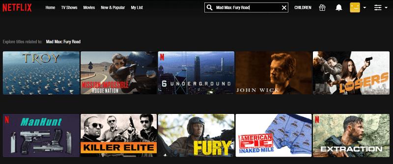 Watch Mad Max - Fury Road (2015) on Netflix 1