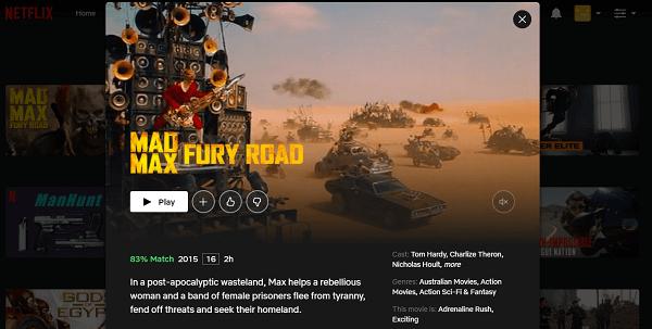 Watch Mad Max - Fury Road (2015) on Netflix 3