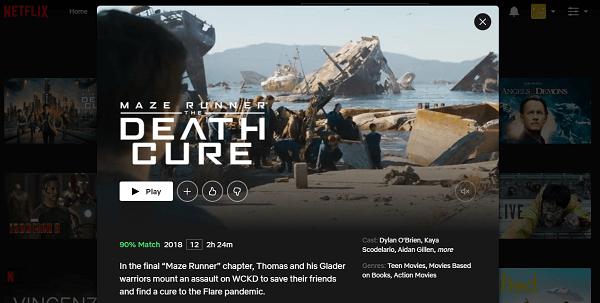 Watch Maze Runner - Death Cure (2018) on Netflix 3