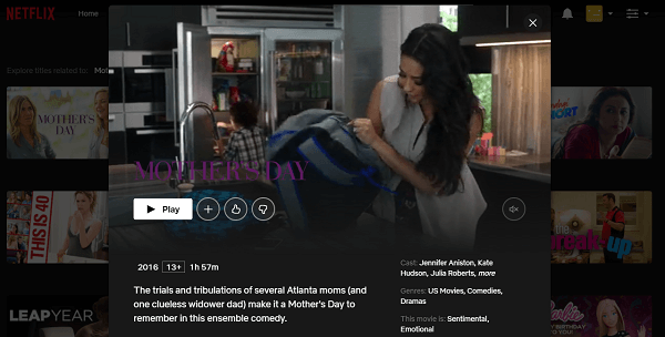 Watch Mother's Day (2016) on Netflix 3