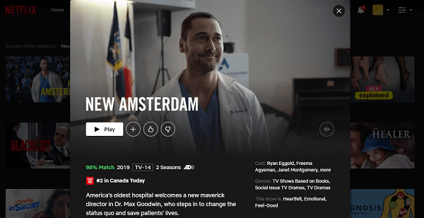 Watch New Amsterdam - season 2 on Netflix 3
