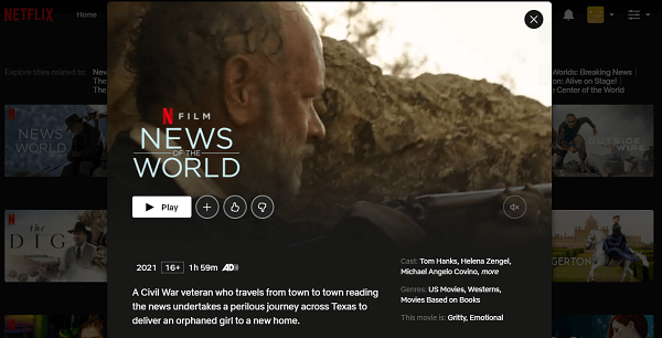 Watch News of the World (2021) on Netflix 3